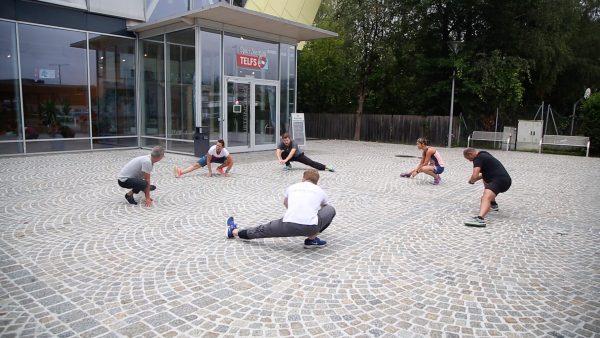 Gruppen-Fitness im Freien