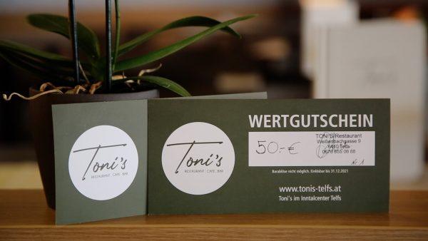Gewinnspiel Inntalcenter Telfs - Toni's Restaurant