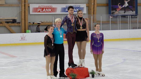 Zwei Goldmedaillen bei der Eiskunst-Landesmeisterschaft