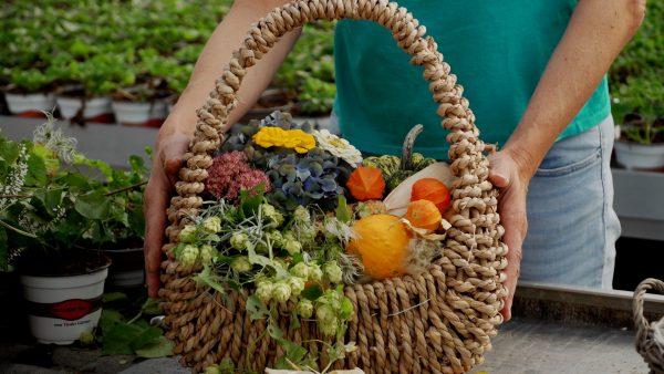 Herbstliche Deko für den Garten